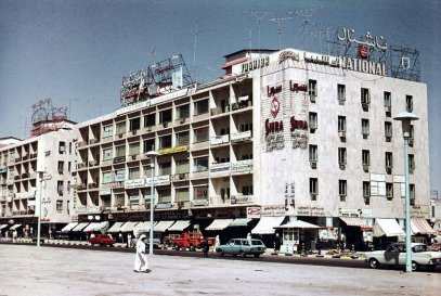old modern kuwait street building